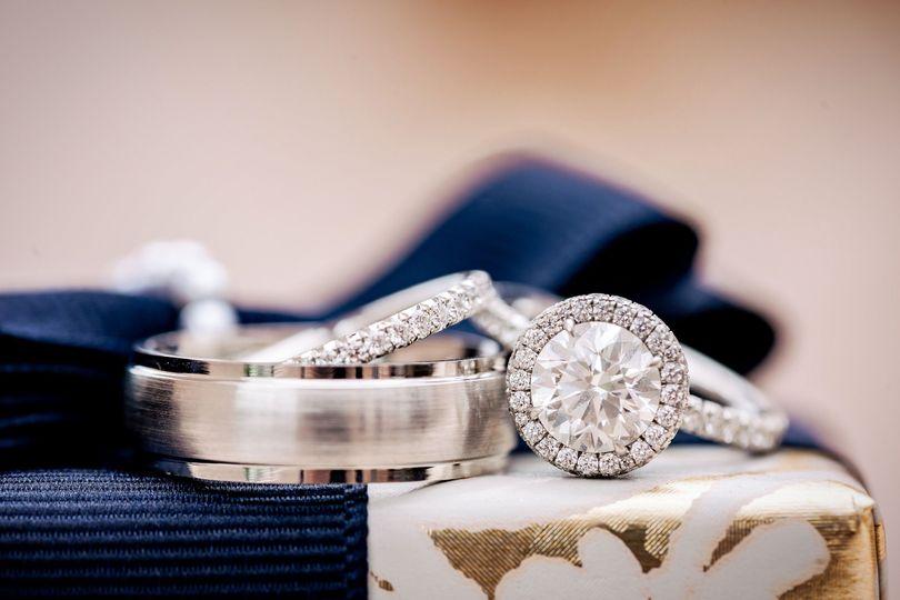 NM-1106 - ~2.00ct Round Brilliant Diamond / Nicole Mera x Lashbrook Platinum Domed Wedding Band with...