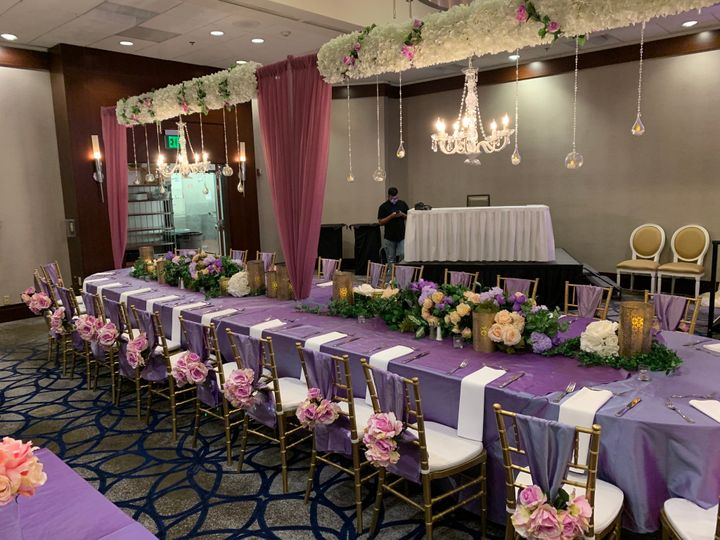 Wedding tables in the Grand Ballroom