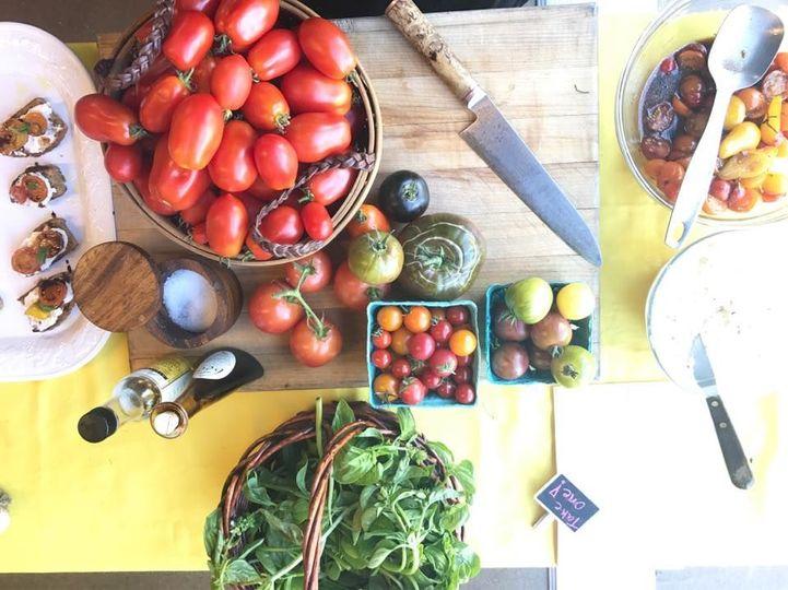 Heirloom Tomato Bruschetta Bar