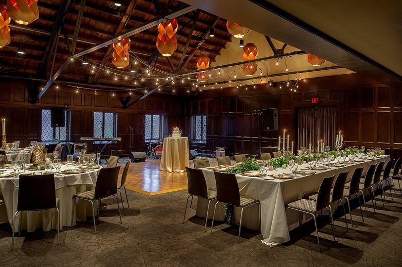 Classic wedding reception