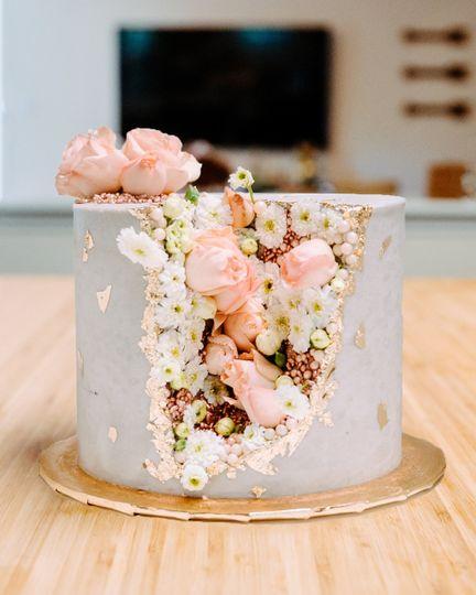 The Flower Geode Cake