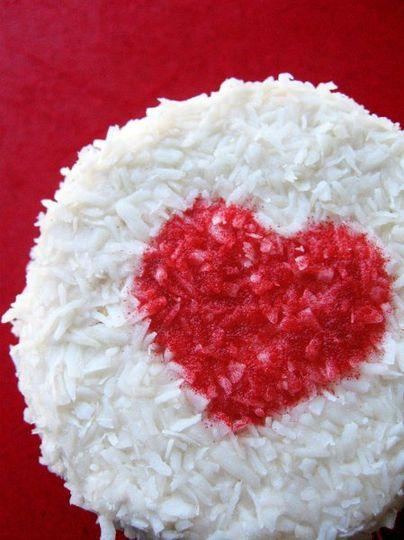Raspberry Coconut Cupcake