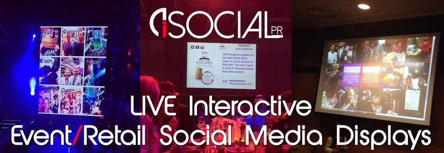 isocialpr ad for live interactive social media dis