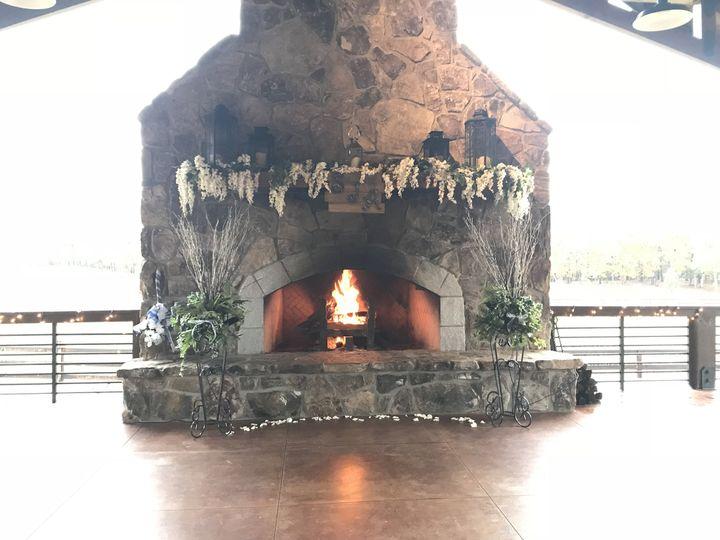 Unique fireplace wedding