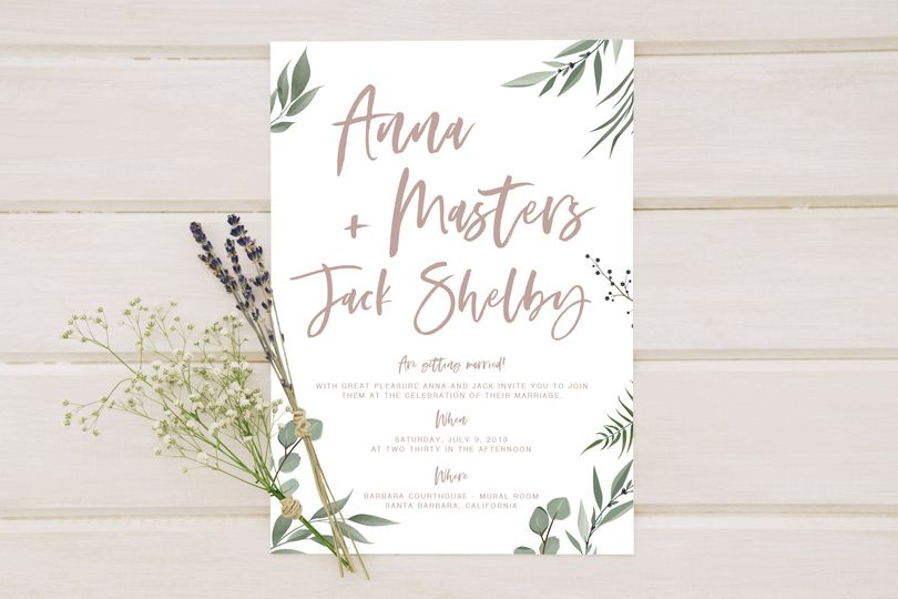 Forrest Wedding Invitation