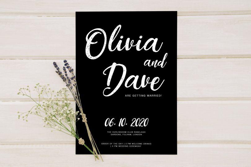 Lettering Wedding Invitation