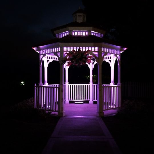 Newland Barn - Huntington Beach, CA  * Uplighting (Purple) * DJ & Lighting Services