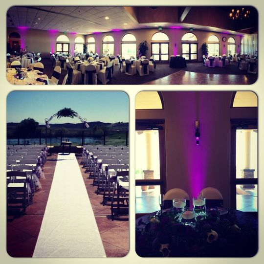 Morongo Golf Course At Tukwet Canyon - Beaumont, CA  * Uplighting (Purple) * Ceremony Setup...