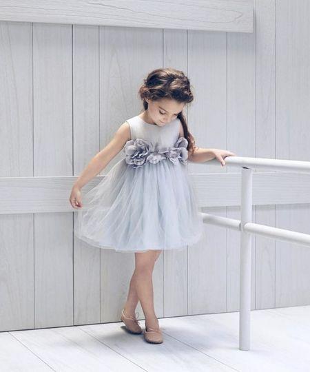 Blossom dress with a sash
