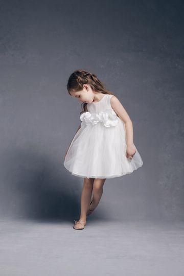 Little girl in the blossom dress