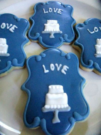 Wedding cake cookie