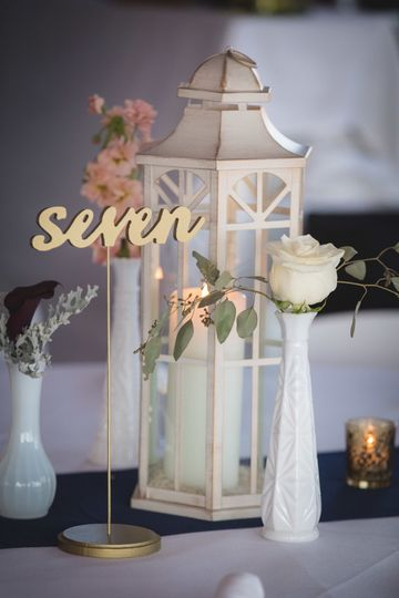 Sample lantern centerpiece