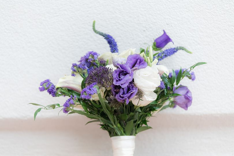 Closeup Bridal Bouquet
