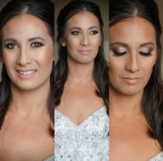 Eye makeup details