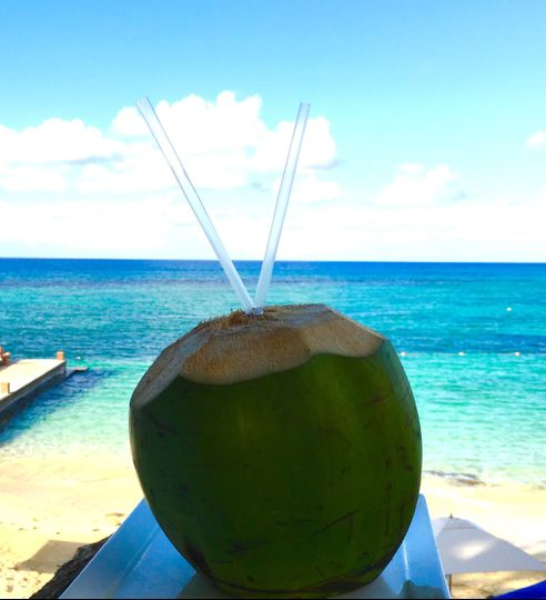Refreshing coconut juice