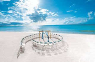 Circular wedding set-up