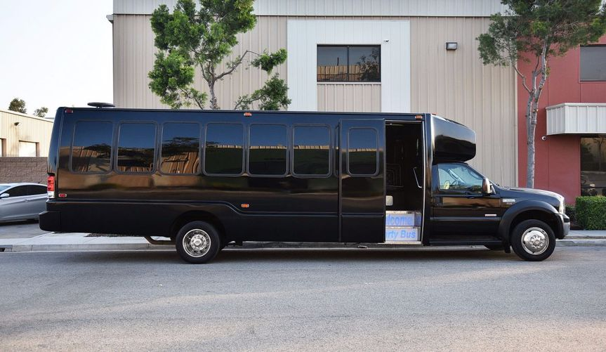 Beautiful black party bus