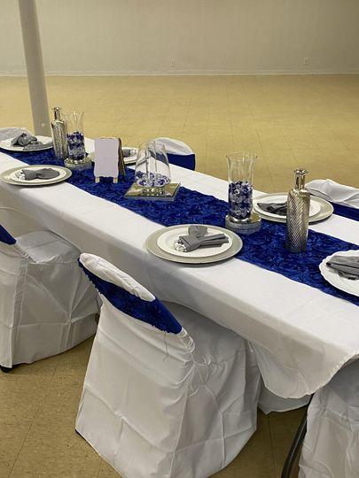 Royal Blue Table