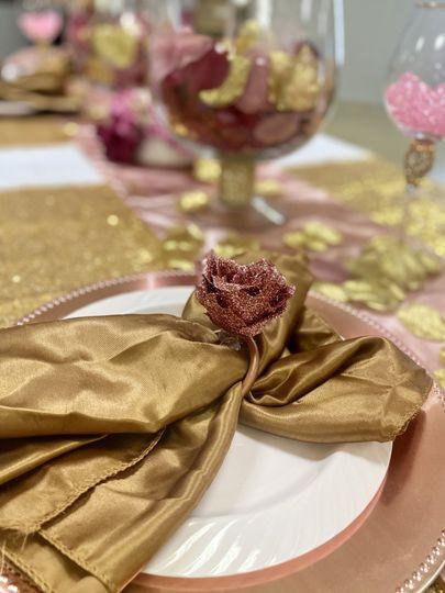 Handcrafted Rose Napkin Holder