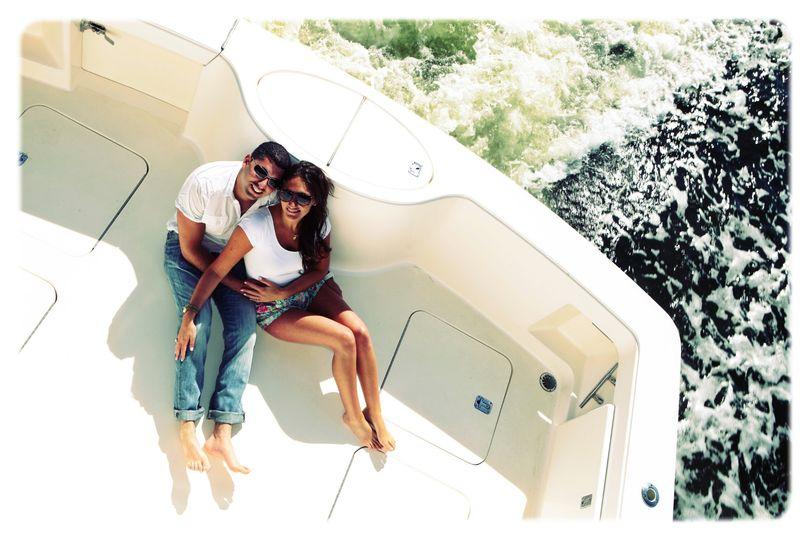 Engagement boat love
