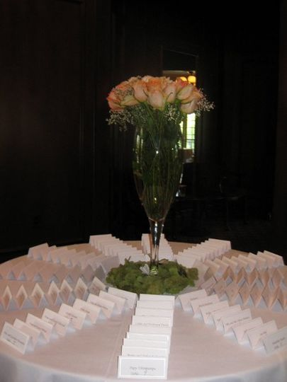 Place cards table