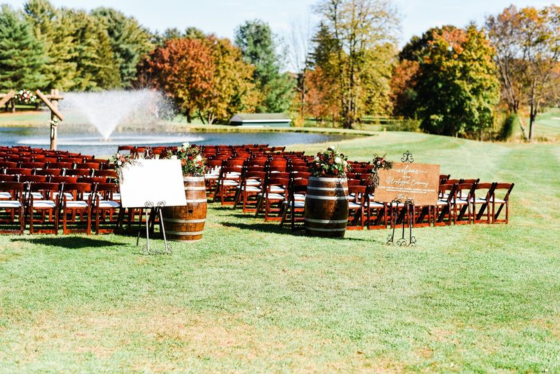 Fall outdoor ceremony