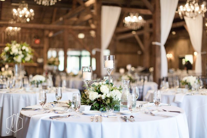 Reception in white