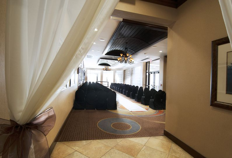 foyer ceremony with curtain