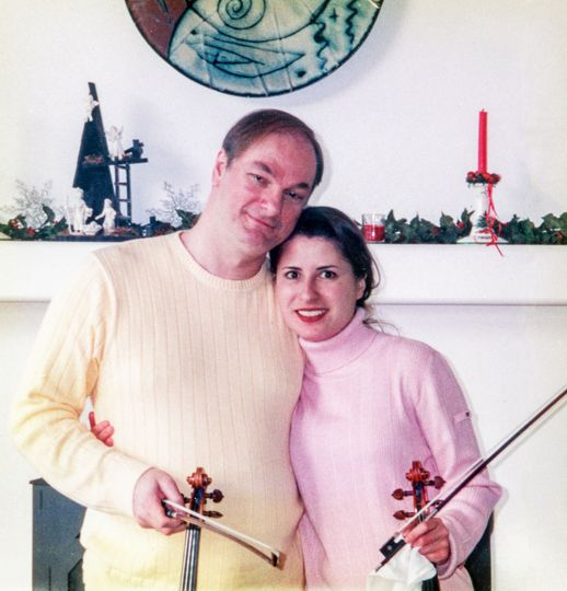 Violinists Michelle Wynton and David Taylor