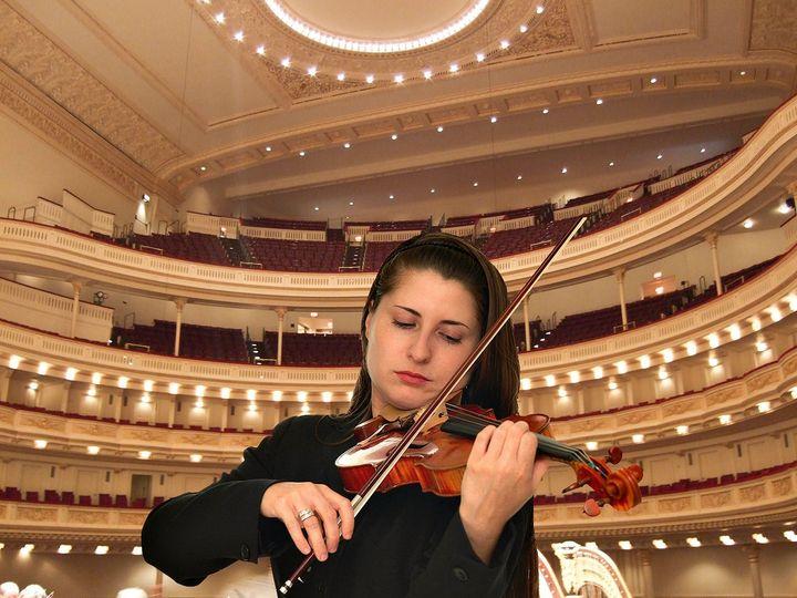 Violinist Michelle Wynton at Carnegie Hall