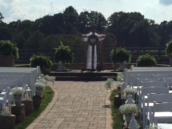 Outside wedding setup