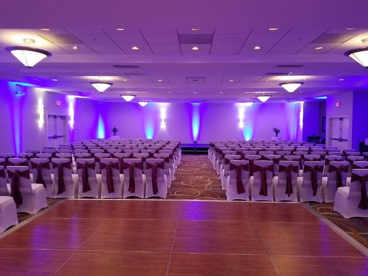 Ceremony area at  Holiday Inn Hotel & Suites Bloomington-Airport