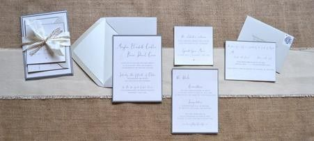 Wedding invitation cards and final product