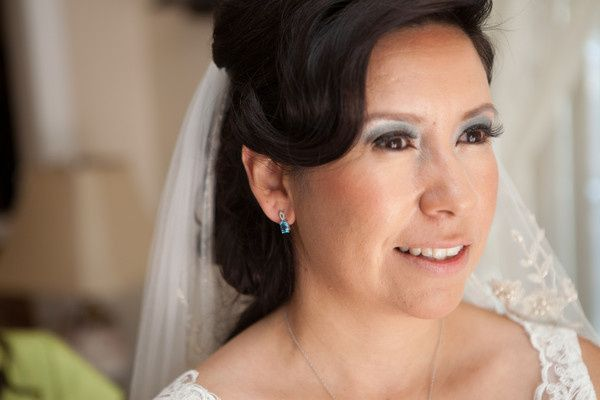 blushing bride makeup with a bit of flare