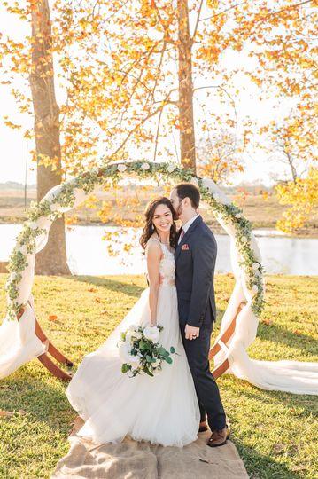Golden fall wedding