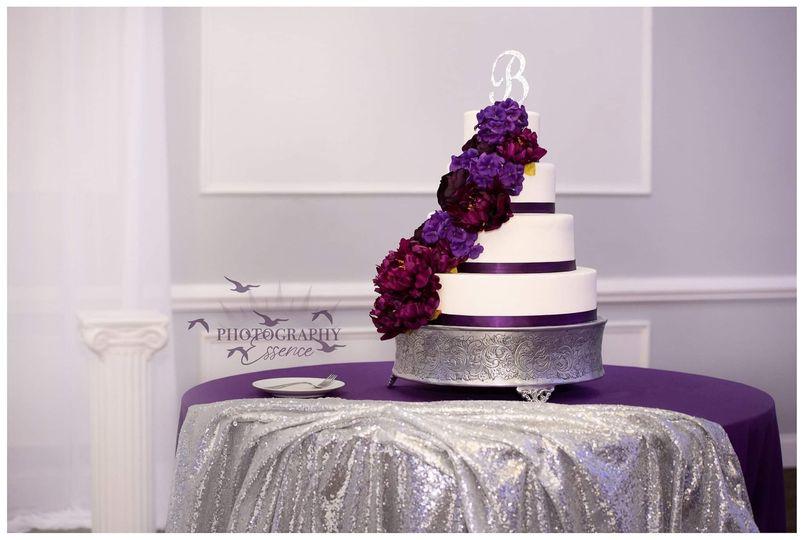 4tier fondant wedding cake