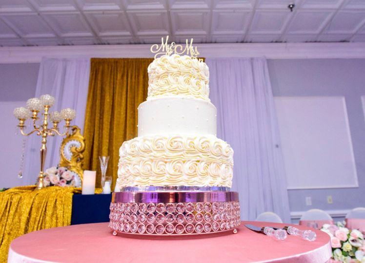 3tier buttercream wedding cake