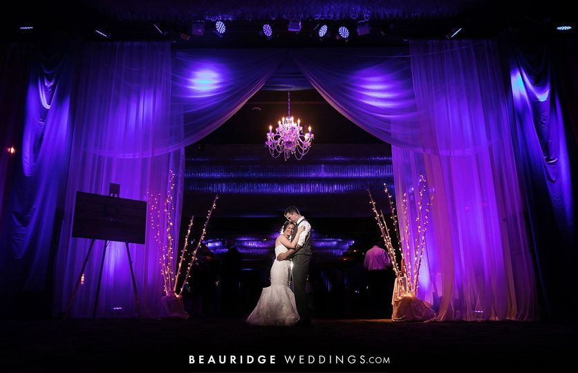 Newlyweds in Ocean Ballroom