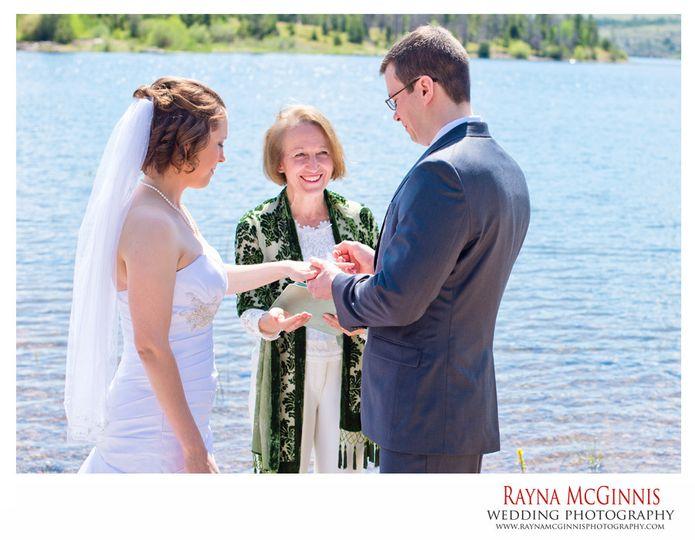 A summer wedding at Dillon Lake, Colorado