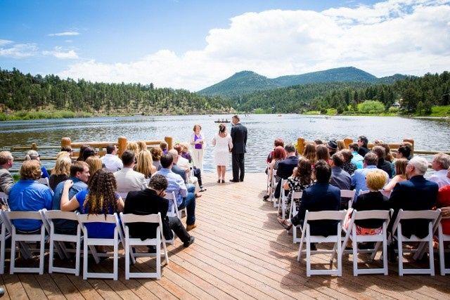 A beautiful ceremony at Evergreen Lake   Jaimie Johnson Photography