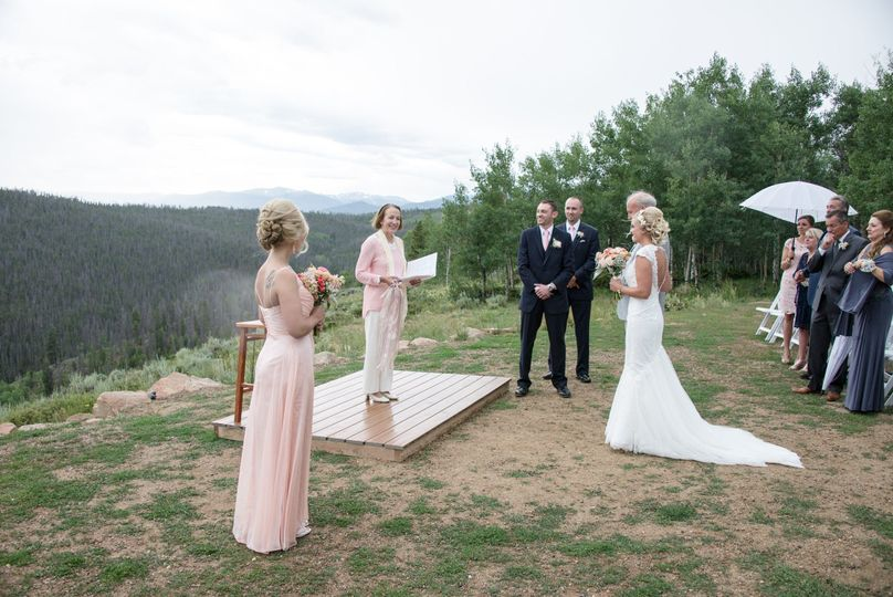 Wedding in July 2016 at Granby Ranch