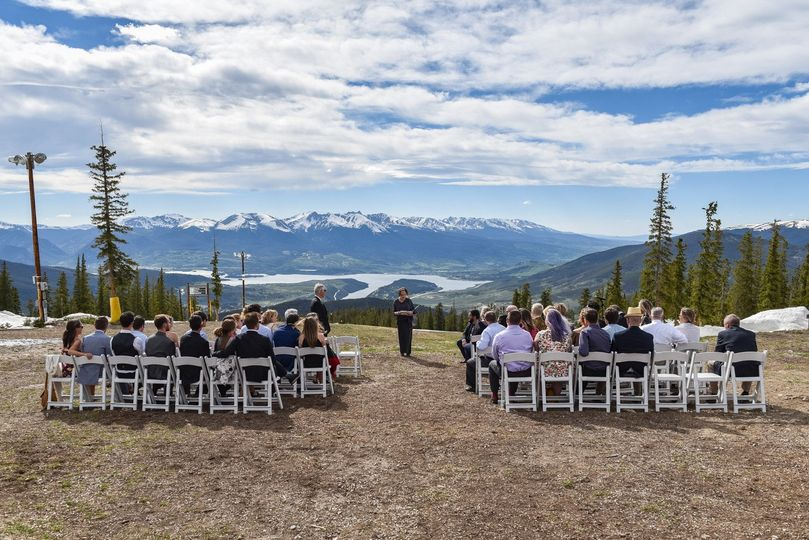 A beautiful wedding atop Keystone | Photo by Adam Houseman