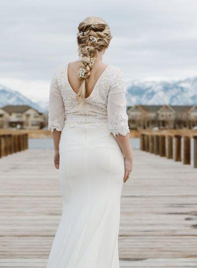 Romantic swept braid