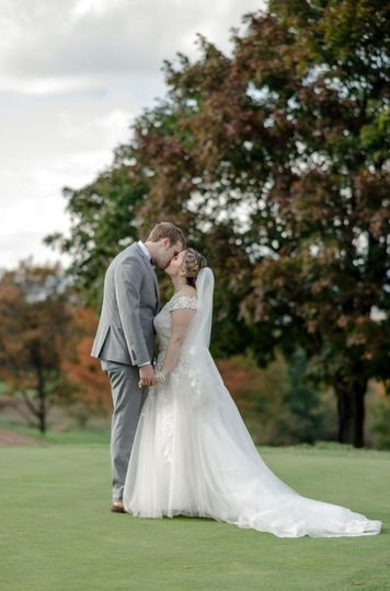 Bride and Groom Fall