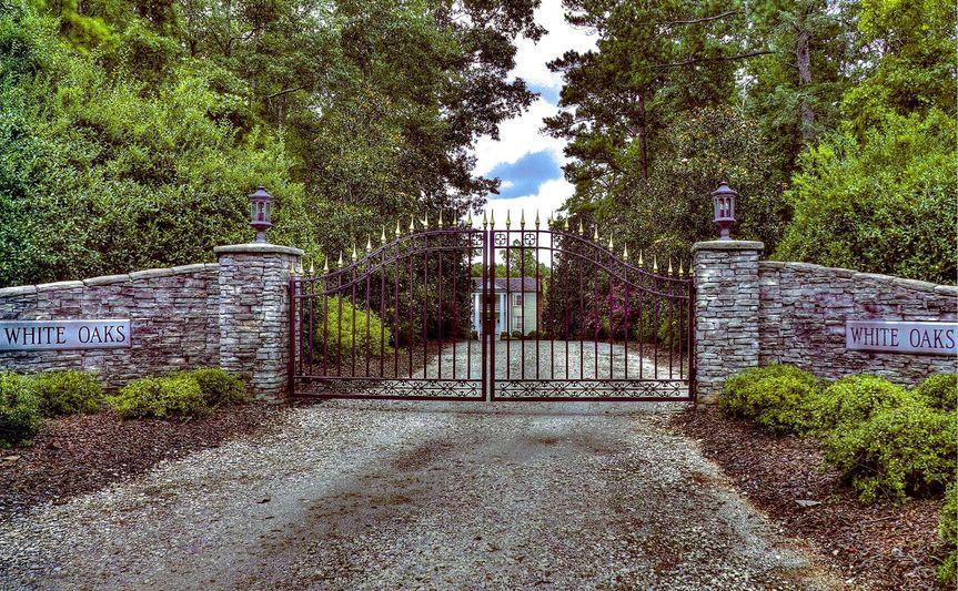 Historic white oaks entrance