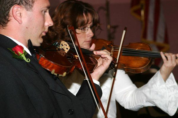 Shane and Catherine, violinists of the Giovanni String Quartet