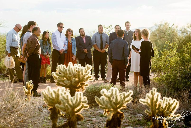 Rishi and Jackie's desert vows