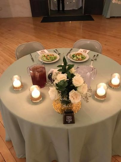 Round table and centerpiece