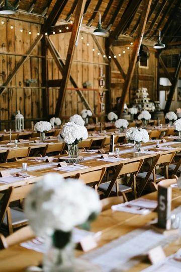 Dellwood Barn Weddings Reception Area