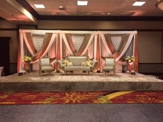 Stage for bride & groom